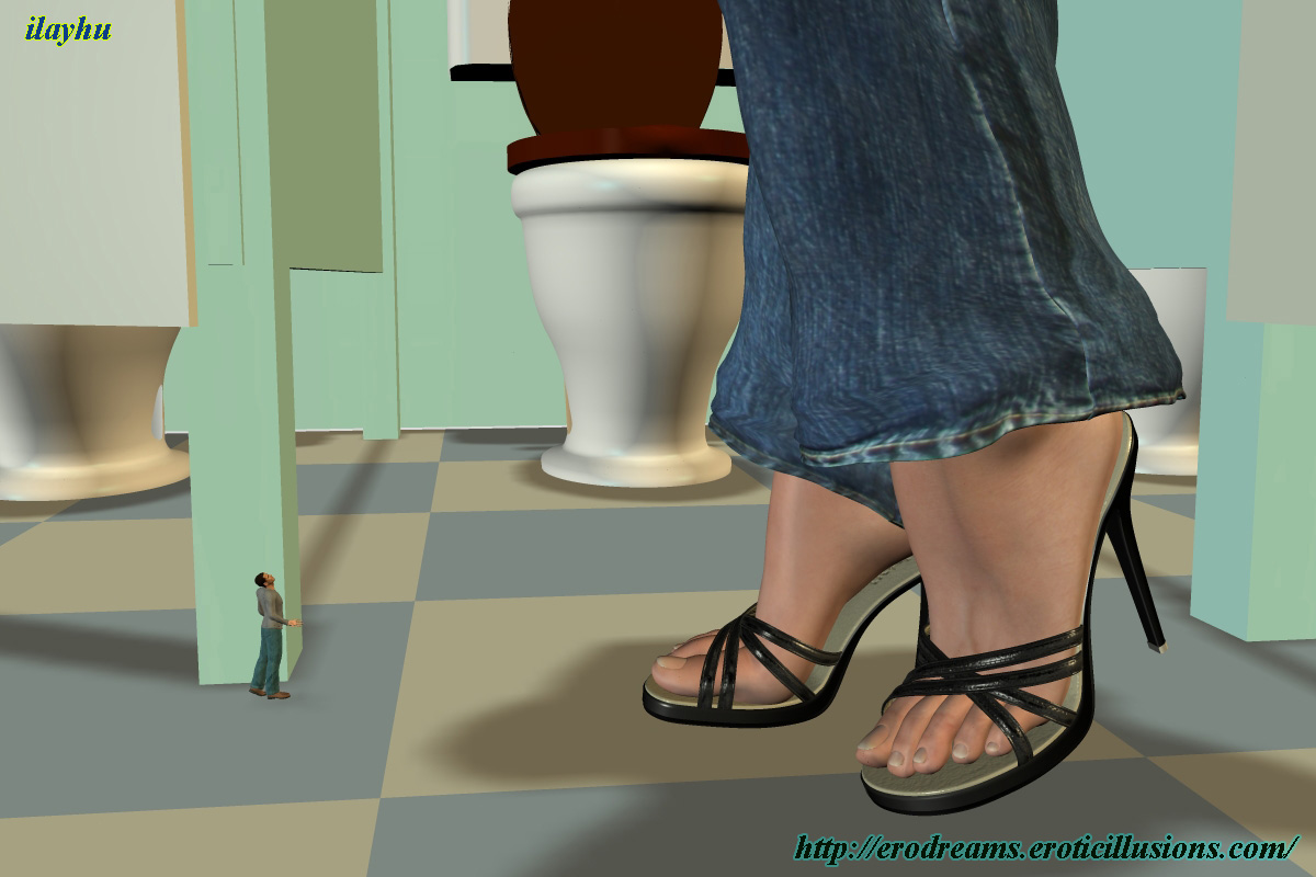 Giantess Poser Toilet